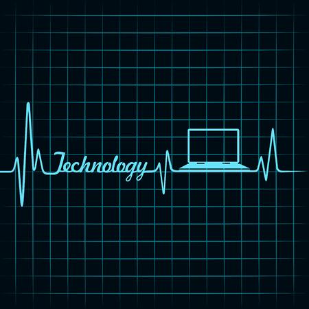 医療技術コンセプト-ハートビート ノート アイコン