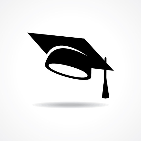 a hat: graduation cap symbol stock