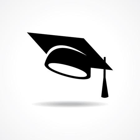 graduation cap symbol stock