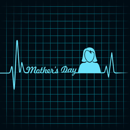mothers day background: creativo happy mothers day background Vettoriali