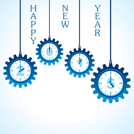 creative happy new year 2015 design stock vector Vector