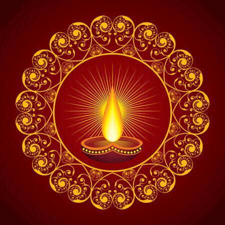 Creative Diwali greeting vector illustration Vector