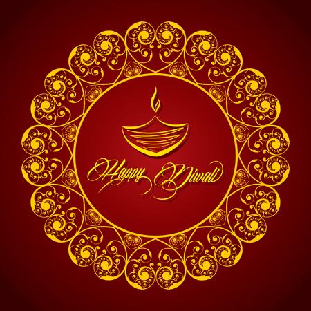 Creative Diwali greeting illustration Vector
