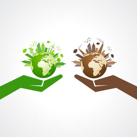 Save nature concept stock Banco de Imagens - 32575102