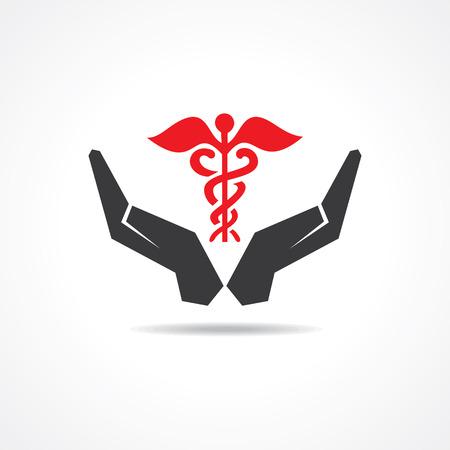 simbolo medicina: salvar la vida de concepto stock vector