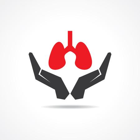bronchiolar: save life concept stock vector