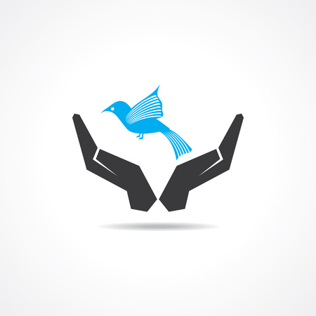 sparrow bird: save wildlife concept stock vector