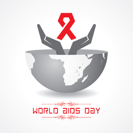 Journée mondiale du sida - concept de sensibilisation au VIH