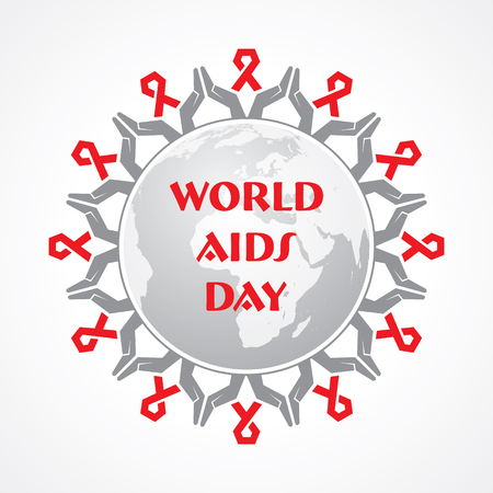 alert ribbon: World Aids Day - HIV awareness concept Illustration