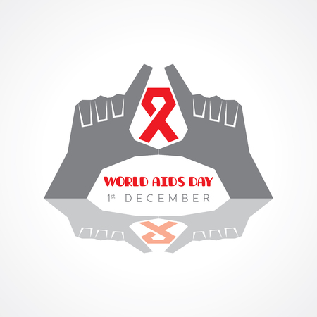 World Aids Day - HIV awareness concept Illustration