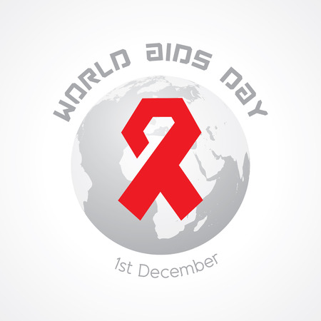 hiv aids: World Aids Day - HIV awareness concept Illustration