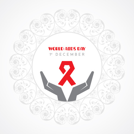 aids virus: World Aids Day - HIV awareness concept Illustration