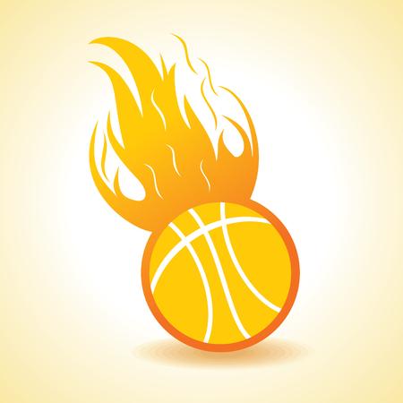 Fire ball concept stock vector