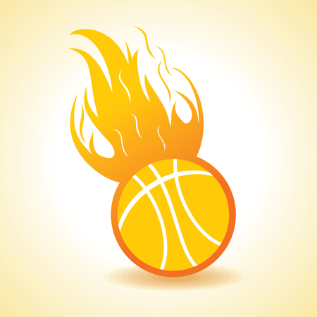 fire ball: Fire ball concept stock vector