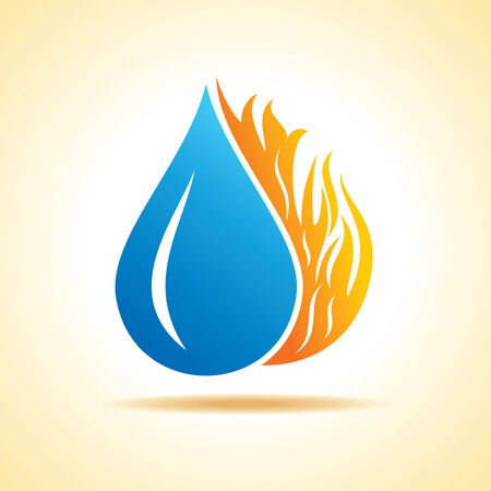 water concept: Fire and water concept stock vector