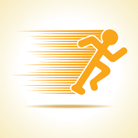 Running man icon stock vector Иллюстрация