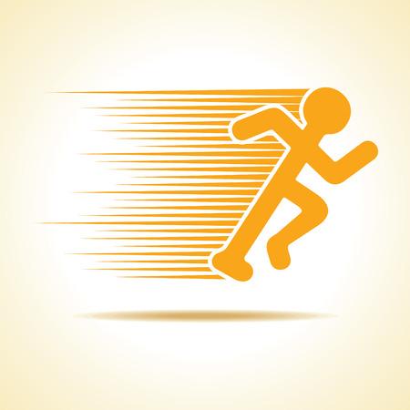 Running man icon stock vector Illustration