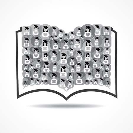 diplom studen: Buch Icon Student-Symbol stock vector Illustration