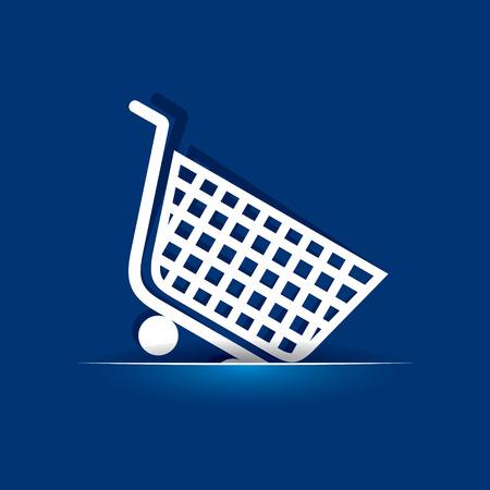 Shopping cart icon stock vector Vector