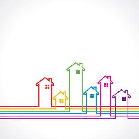 Immobilien bakground zum Verkauf Immobilien-Konzept Stock Vektor-