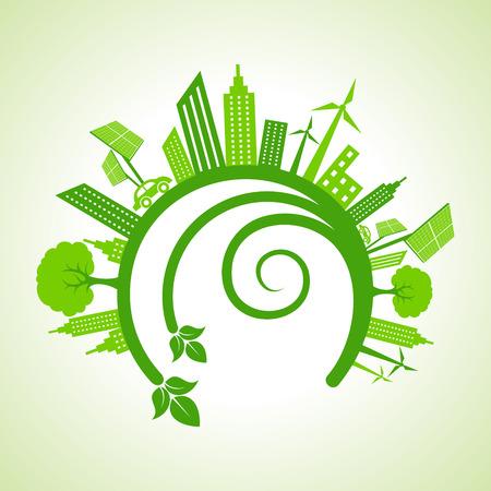 Ecology Concept - eco cityscape