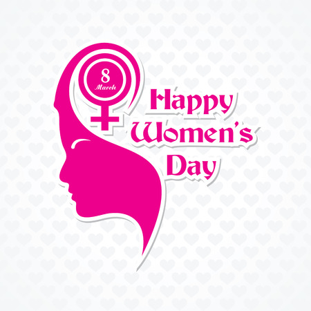 young womens: Womens day greeting card design vector illustration