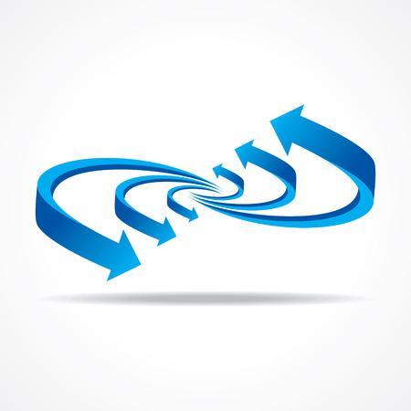 onwards: Blue business arrow stock vector Illustration