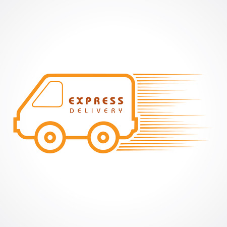 car retailer: Express Delivery concept for increase the sell stock vector