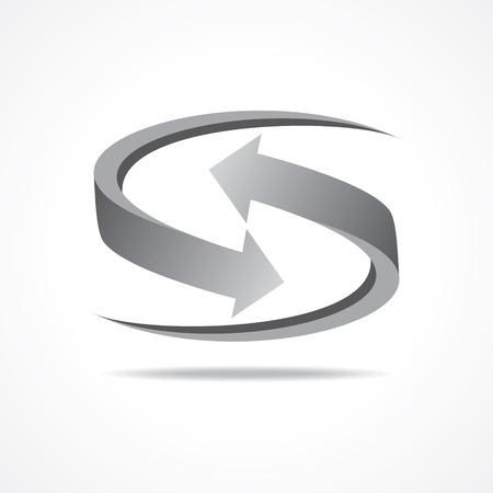 onwards: Grey business arrow icon stock vector