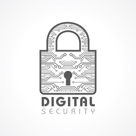 Vector Illustration of Digital Security Concept