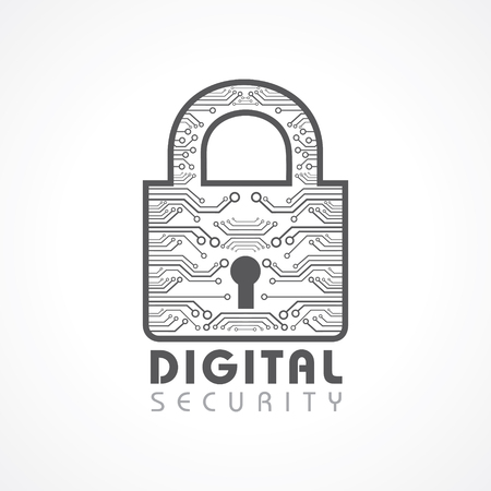 Vector Illustration of Digital Security Concept