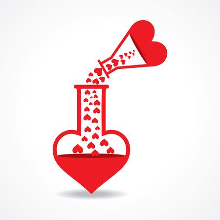 pocion: Química del Amor de concepto stock vector Vectores