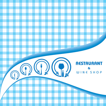 main course: Template for menu card with cutlery. Vector Illustration