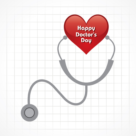 Creative National Doctors Day Greeting Card Stock Vector Illustration