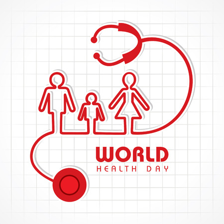 Creative World Health Day Greeting stock vector Illustration