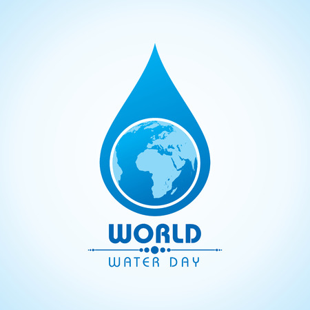 創造的な世界水の日あいさつ株式ベクトル  イラスト・ベクター素材