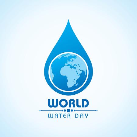 Creativo Día Mundial del Agua de felicitación stock vector