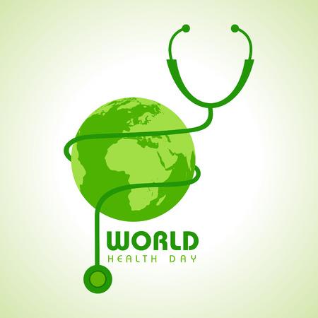 global health: Creative World Health Day Greeting stock vector Illustration