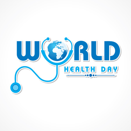 Creative World Health Day Greeting stock vector Illustration