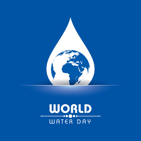 Creative World Water Day Greeting stock vector Illustration