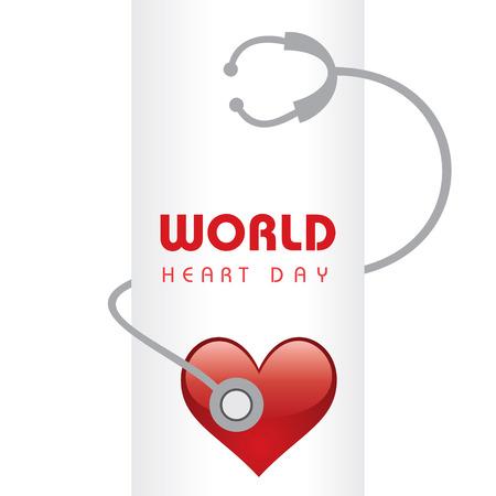 創造的な世界心臓の日あいさつ株式ベクトル