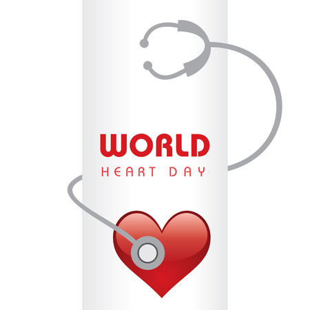 human heart abstract: Creative World Heart Day Greeting stock vector