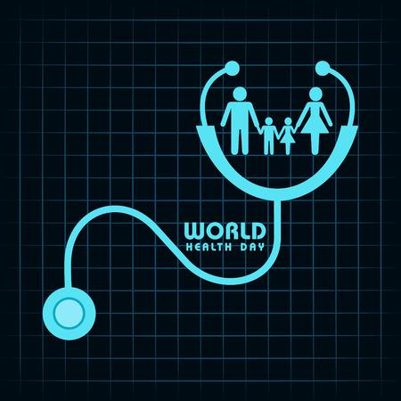 クリエイティブの世界健康日挨拶株式ベクトル