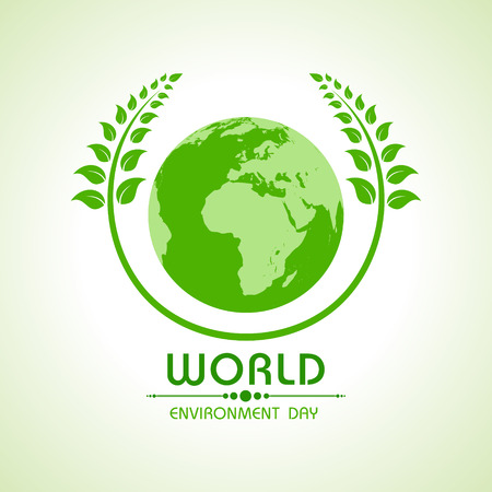 Creative World Environment Day Greeting stock vector