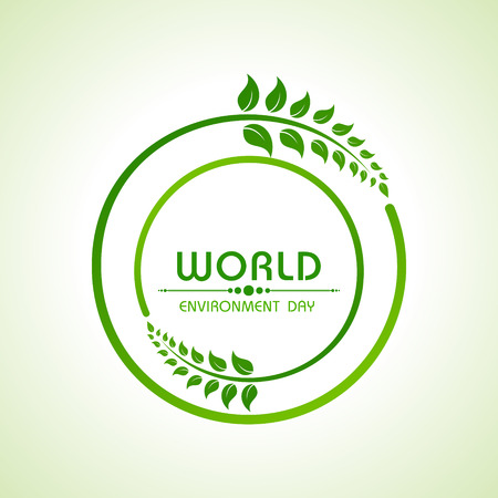 the natural world: Creative World Environment Day Greeting stock vector
