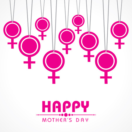 Women's health: Mothers day greeting with female symbol stock vector