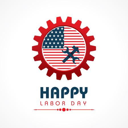Creative happy labor day greeting stock vector Vector