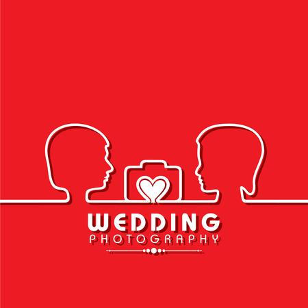wedding photography: Wedding Photography Concept stock vector