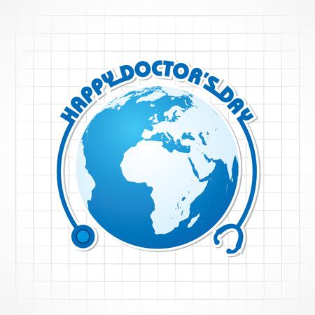 Creative-Ärzte-Tagesgruß Stock Vektor-
