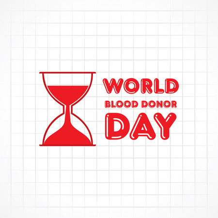 donor: Creative World Blood Donor Day Greeting stock vector